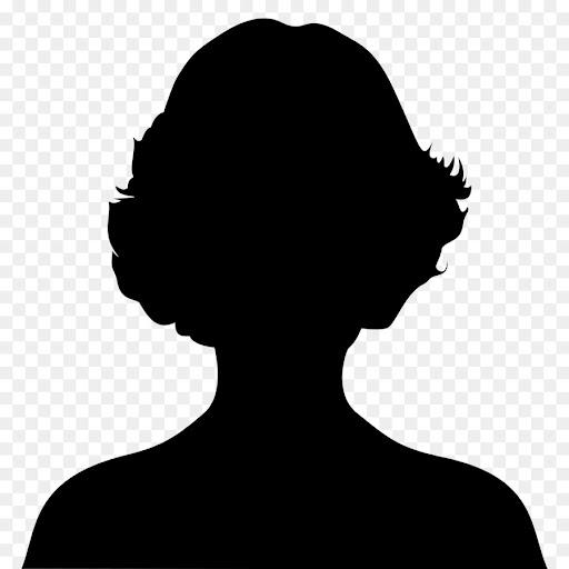 silhouette of woman's head